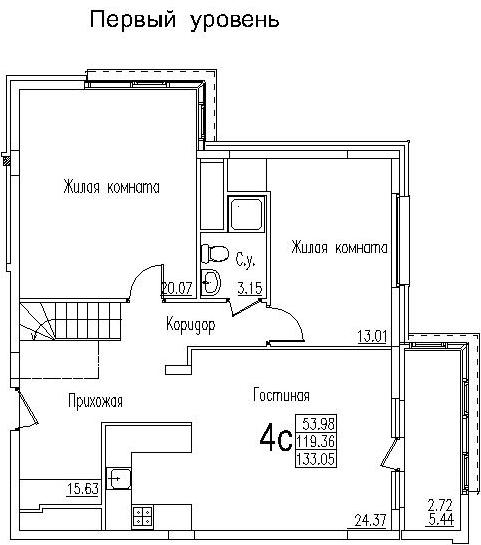 Планировка квартир в жилом доме № 4