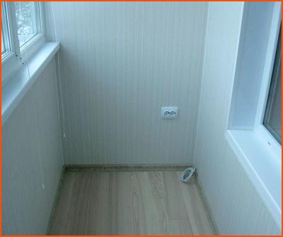 Обшивка балконов и лоджий панелями ПВХ