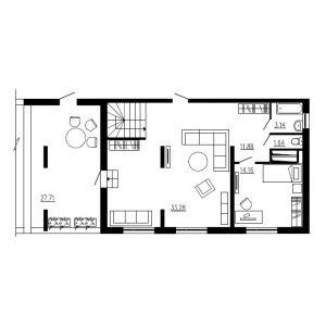 Четырехкомнатная квартира Тип1 (10-й этаж)